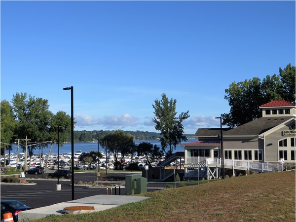 South Pointe Restaraunt overlooking the marina and Irondequoit Bay