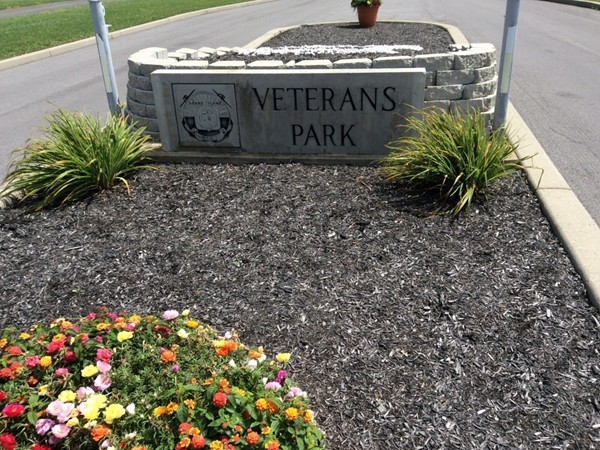 Entrance to Veterans park from Woodstream Meadows subdivision