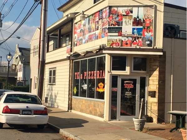 TK's pizza. One of Fairports best establishments! Great spot for lunch to sit and chat with friends