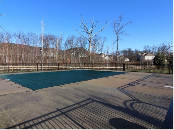 Pool at Brigadoon in the winter