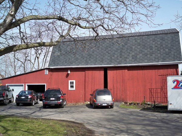 Large barn, once used for farming when this property was built, is now just storage