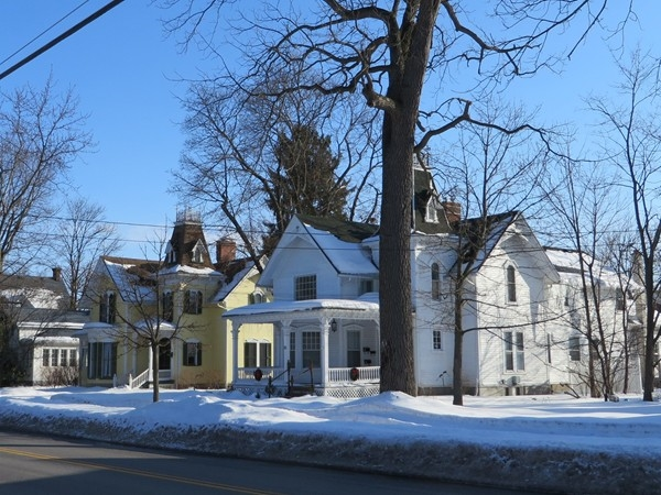 Century old homes in the Village of Honeoye Falls