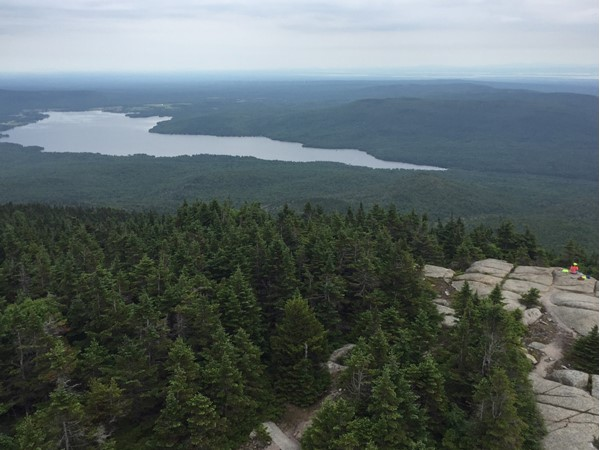 Chazy Lake as seen from atop Lyon Mountain. The air is so fresh here!