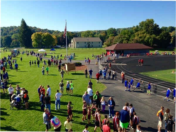 Chittenango Invitational Cross Country track meet - dedicated kids doing what they love