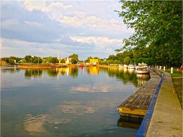 Beautiful Seneca River in Downtown Baldwinsville