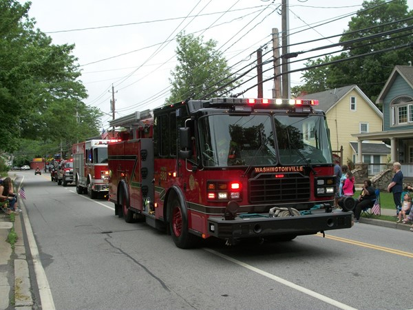 The local fire department was well represented at the Memorial Day Parade