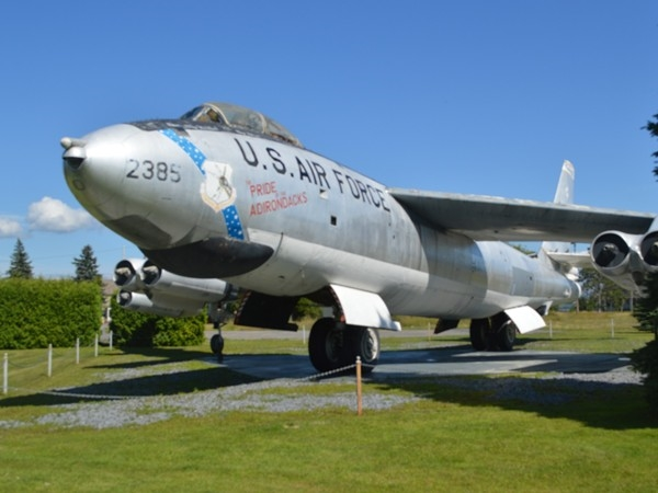 Santa used to sit on top of this B-47 many years ago at Plattsburgh AFB and it was a sight to see