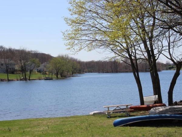 Beaver Dam Lake in early spring