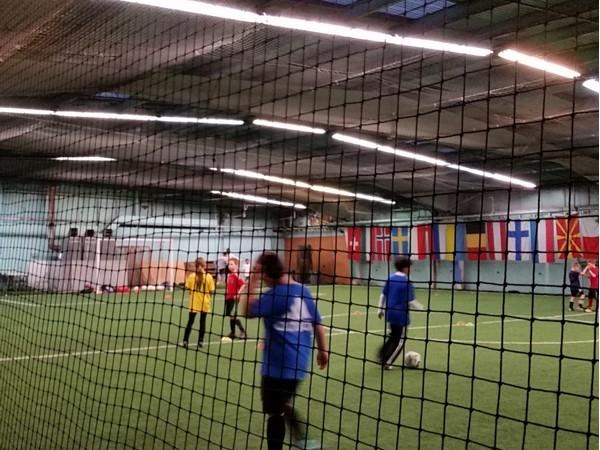 Indoor soccer training at OnTrack Sport Center
