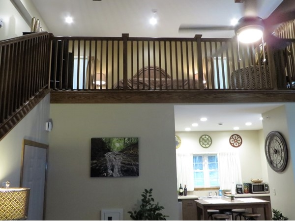 Inside the new loft units at Letchworth State Park