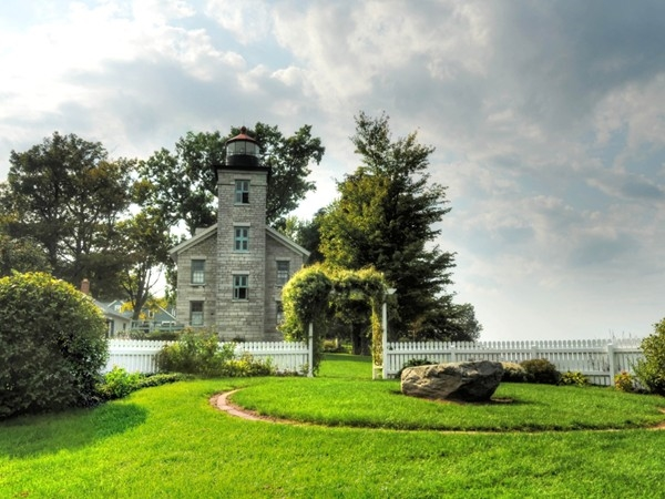The old Sodus Point Lighthouse and gardens have been converted into a museum