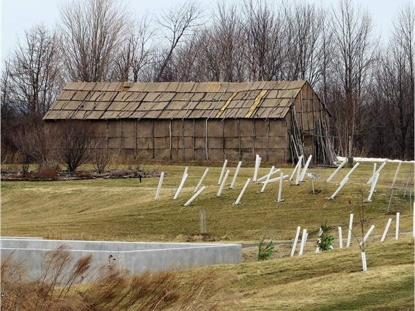 The Long House at historic Ganondagan is the site where the original Five Nations Iroquois met
