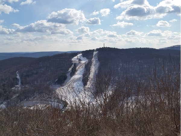 The Victor Constant Ski Area at West Point. View from Route 9W