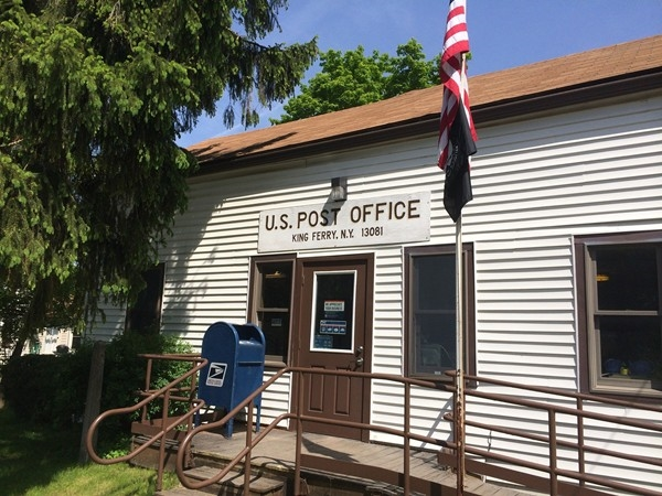 Post office in King Ferry, there is seldom a line.