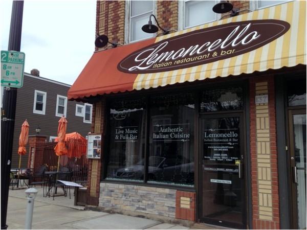 Lemoncello Italian Restaurant.  Authentic Italian cuisine, patio seating, full bar, and live music