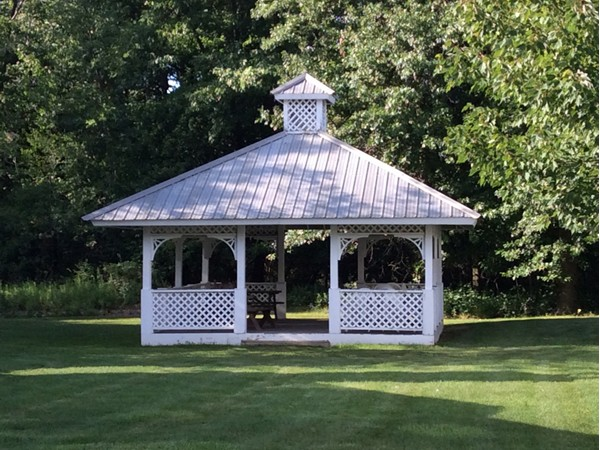 Gazebo between buildings at the Park Place condominiums