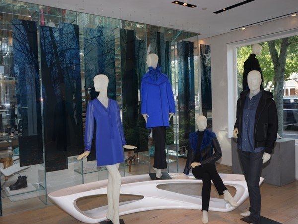 Inside of boutique store on the Main Street of East Hampton Village