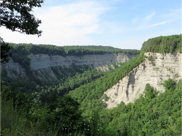 The Big Bend at Letchworth State Park near Portage
