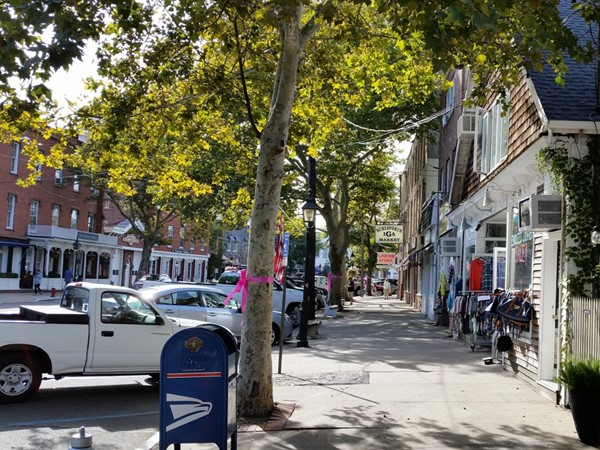 Early fall, Sag Harbor streets
