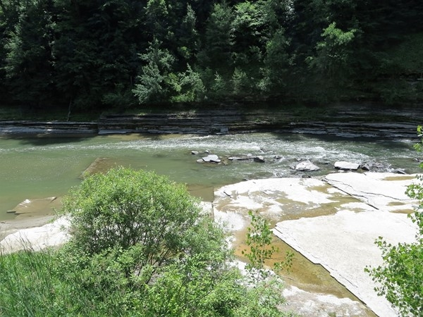 The river between the Upper and Middle Falls at Letchworth State Park near Portage