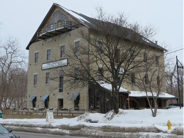 Historic stone building by the Honeoye Falls Creek in Honeoye Falls