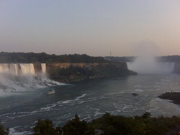 View from Niagara Falls Ontario overlooking the American and Horseshoe Falls