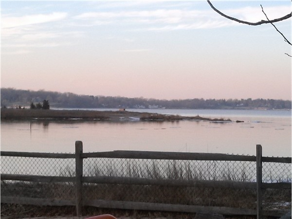 Winter sunset over Cold Spring Harbor