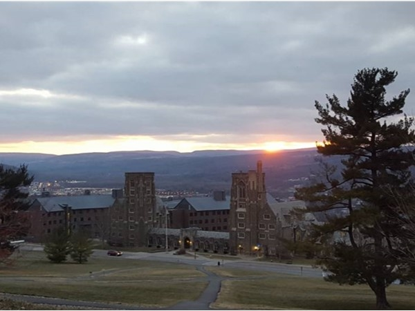Thousands of sunsets over Cornell University