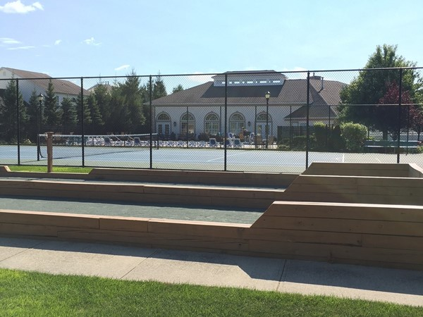 Tennis court and Bocce Ball