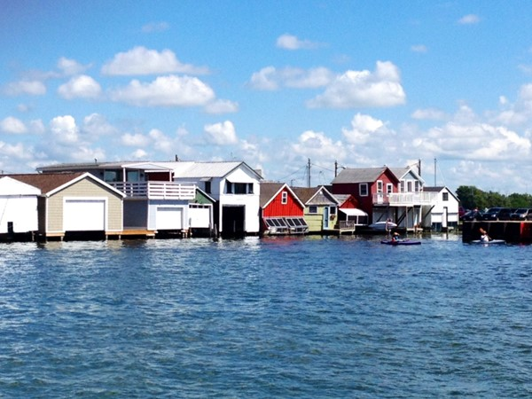 Historic boat houses on City Pier
