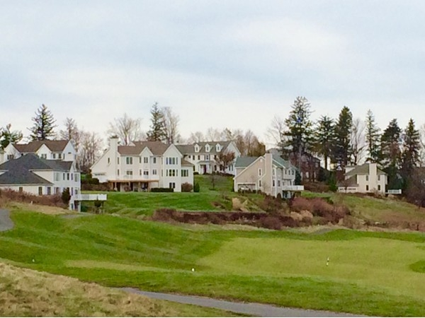 Luxury homes in Mansion Ridge from the golf course