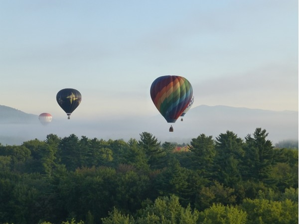 Above the crowd at the Adirondack Balloon Festival that takes place every September