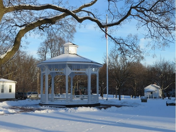 Band shell in a park in the Village of Honeoye Falls