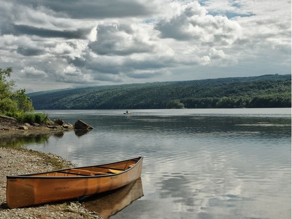 Hemlock Lake is a water source for the city of Rochester and therefore, is undeveloped