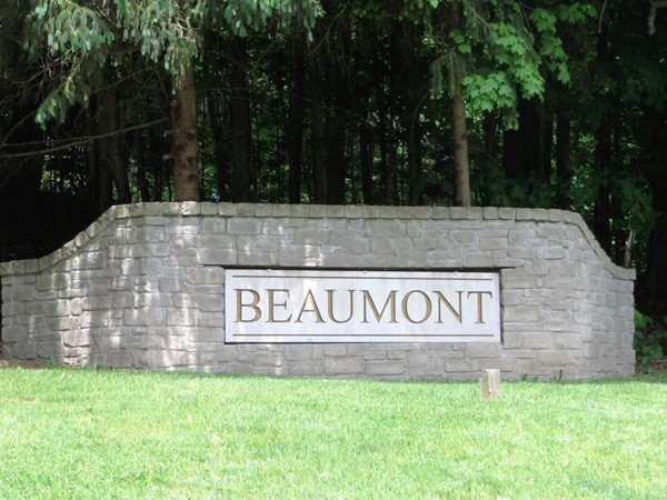 Gateway marquis to Beaumont Estate off Turk Hill Road in Perinton