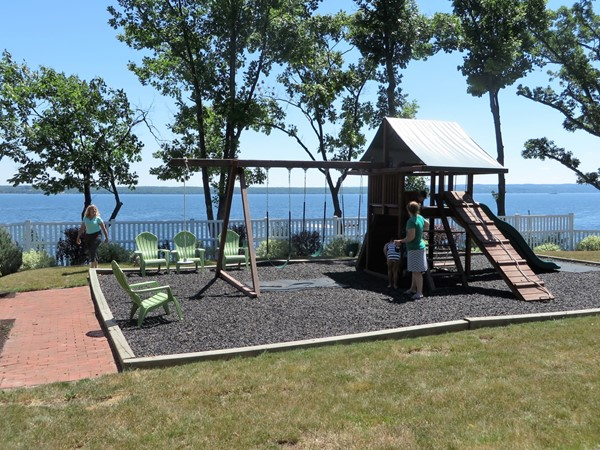 Playground for the kids at a house on Seneca Lake