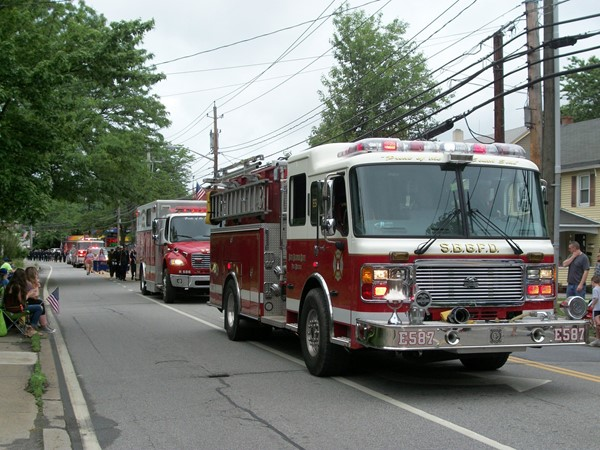 Fire Trucks in Memorial Day Parade