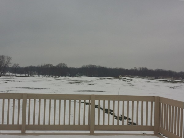 View of the River Oaks Golf Course with a dusting of snow