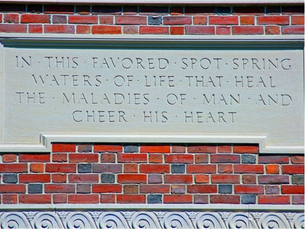 You will see quotes like this engraved on buildings in Saratoga State Park