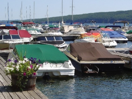 Marina at Bristol Harbour on Canandaigua Lake
