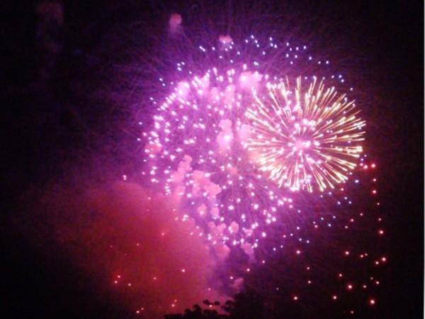 Community Day fireworks at Algonquin Park