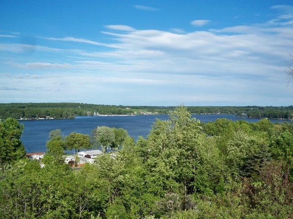 View of the east finger of Sodus Bay from Shaker Heights