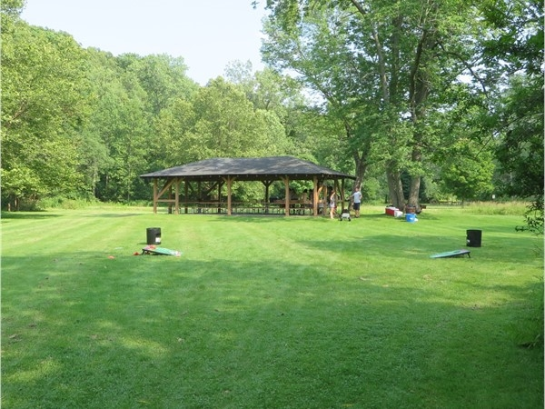 Very secluded picnic pavilion in Powder Mill Park in Perinton