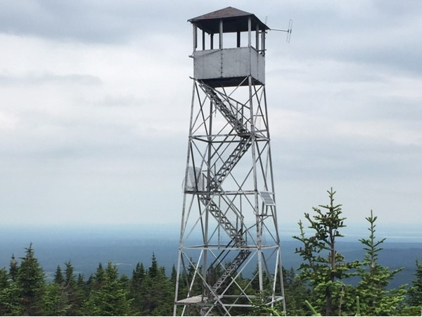 One-of-a-kind views abound in the Adirondack Mountains, like the one from this fire tower on Lyon Mtn