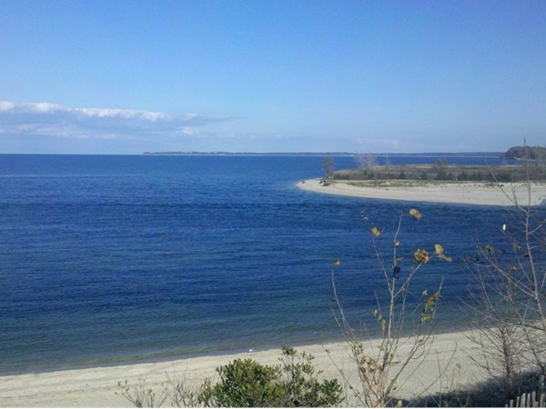 A view of Long Island Sound from the Bluffs in Kings Park