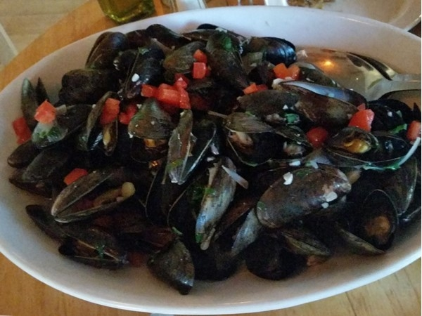 Harvest on Fort Pond restaurant. Locals favorite! This is just an appetizer