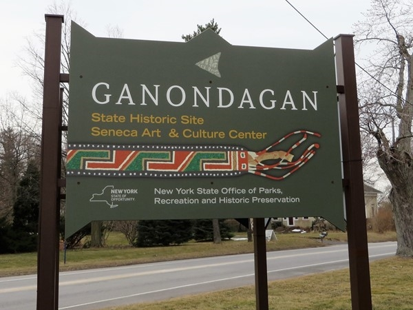 Ganondagan; historic site for the five nations of the Iroquois south of Victor