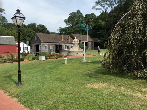 Barns and garden at Long Island Museum at Stony Brook