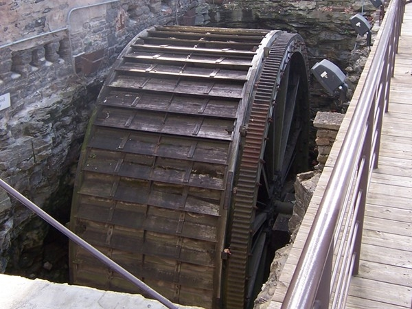 One of the original water wheels at High Falls used to power the grist mills