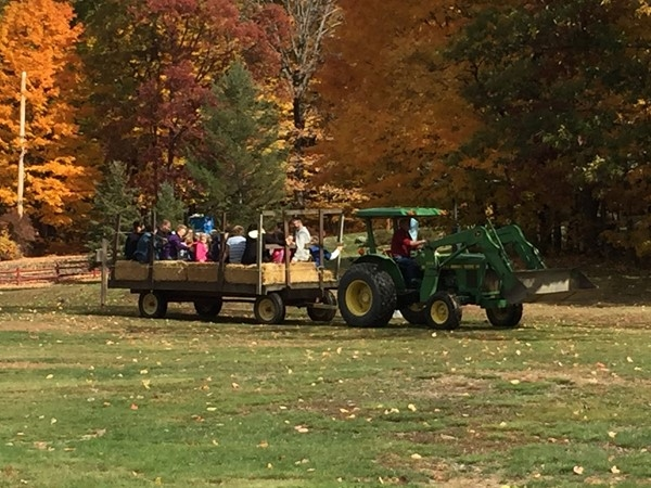 Hay rides at Smith's Clove Park in Monroe